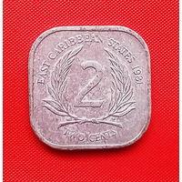 51-28 Восточные Карибы, 2 цента 1981 г. Единственное предложение монеты данного года на АУ