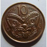 Новая Зеландия 10 центов 2007 г