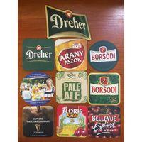 Подставки под пиво Венгрии одним лотом