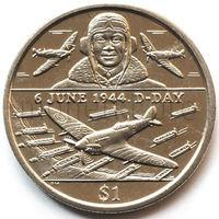 Британские Виргинские Острова 1 доллар 2004 года. День Д. Авиация.