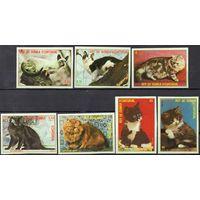 Кошки Экваториальная Гвинея 1978 год серия из 7 б/з марок (М)