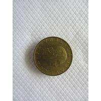 200 лир 1993R Италия КМ# 155 алюминиевая бронза