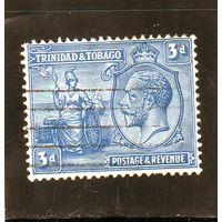 Тринидад и Тобаго.Ми-108. Британния и король Георг V. 1922.