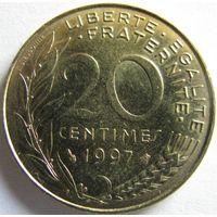 1k Франция 20 сантимов 1997 В ХОЛДЕРЕ распродажа коллекции