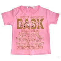 """Маечка трикотажная фирмы """"Keekbao"""", для девочки 4-6 лет, абсолютно новая, 100% трикотажный хлопок (тянется, но не меняет цвет и не деформируется после стирки), вся майка украшена блестящими золотыми б"""