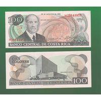 Банкнота Коста-Рика 100 колон 1993 AU-UNC ПРЕСС