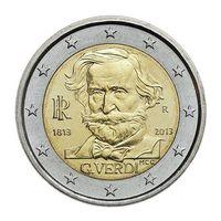 2 Евро Италии 2013  200 Лет Со Дня Рождения Джузеппе Верди UNC из ролла