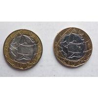 Италия 1000 лир, 1998 5-11-19*20