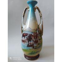 Антикварная фарфоровая ваза. Франция