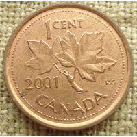 1 цент 2001 Канада