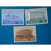 Исландия. 1962 г. Мi-362-364. Здания.