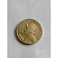 Панама 1/4 бальбоа 1947 год. серебро!