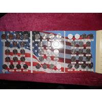 С 1 рубля!США, Подборка памятных Квотеров в альбоме с 1999 по 2008 .