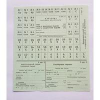 Продуктовая карточка СССР Е-8 5я категория служащие 198- г выпуск госзнак с водяными знаками, предполагалось задействовать при особых случаях в стране