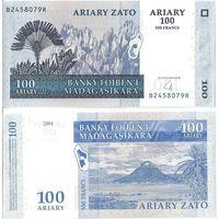 Мадагаскар 100 ариари образца 2004 года UNC p86b