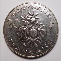 Французская Полинезия. 20 франков 2003г.