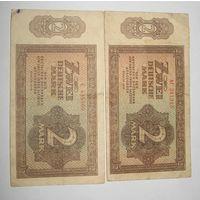 Германия. 2 марки ГДР 1948 г.