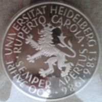 5 марок ФРГ 1986 600 лет университету