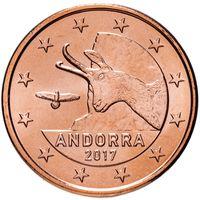 5 евроцентов 2017 Андорра UNC из ролла