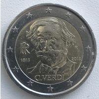 2 евро Италия 2013г. 200 лет со дня рождения Джузеппе Верди