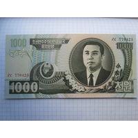 СЕВЕРНАЯ КОРЕЯ 1000 ВОН 2006 ГОД UNC