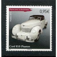 Андорра французская. Автомобиль Cord 810 фаетон (1936 год)
