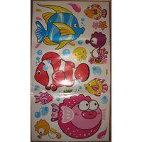 Интерьерные наклейки в детскую комнату разные в наличии