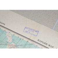 Полимаршрутная полётная карта 1968 ГОДА! Такой ни у кого нет! состояние! От первичной  парторганизации 202 лётного отряда ХОАО ДВУГА! 1968!