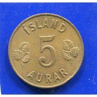 Исландия 5 эйре 1963