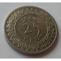 "Суринам 25 центов 2009 ""Герб"""