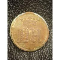 Пуговица Ливрейка старинная гербовая