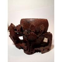 Ваза чаша камень древний Китай ручная работа