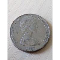 Новая Зеландия 20 центов 1982г.