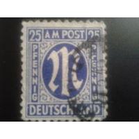 Германия 1945 американская печать Бизония