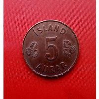 94-29 Исландия, 5 эйре 1958 г. Единственное предложение монеты данного года на АУ