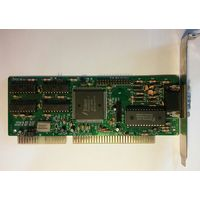 РЕТРО,видеокартаTrident tvga 9000i-1, 7210, Ред. E2/SOJ.,1994г