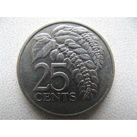 Тринидад и Тобаго 25 центов 1999 г.