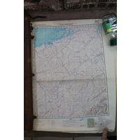 Оригинальная карта Генштаба СССР.Редчайший регион -возможно единственная! Цена за 2 карты!