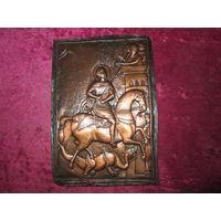 Икона Георгий Победоносец (гальванопластика) медь,нач.20-го века