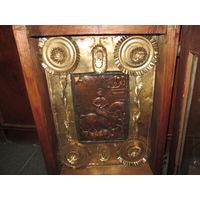 С 1 рубля!Икона Георгий Победоносец (гальванопластика) медь,нач.20-го века