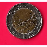 49-37 Италия, 500 лир 1982 г.