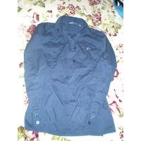 Блузка-рубашка тёмно-синяя фирменная р. 140-146