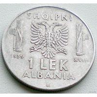 Албания, 1 лек 1939 года (2-я монета)
