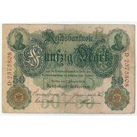 Германия, 50 марок 1908 год.