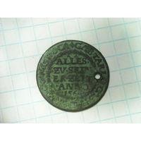 Счетный жетон Габриеля Тарла каштеляна Радомского кухмистра королевского двора 1564 год редчайший