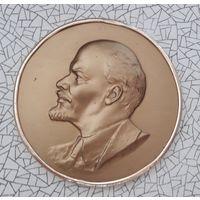Ленин настольная медаль плакетка