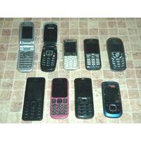 Телефоны разные на запчасти + зарядные. Цена за всё.