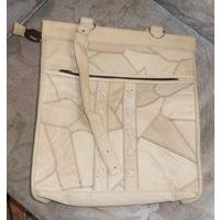 Большая сумка из натуральной кожи