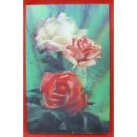 Стереооткрытка. Розы. 1984 года.