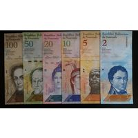 Комплект, 6 банкнот.  2008 - 2015 год. UNC.